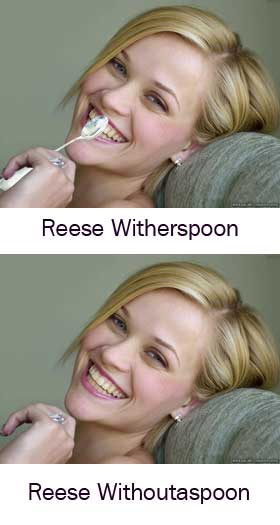 reese with her spoon